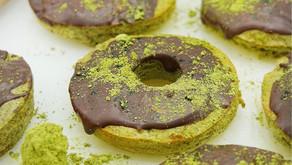 Matcha Donuts (Low Carb, Grain Free, High Fiber)