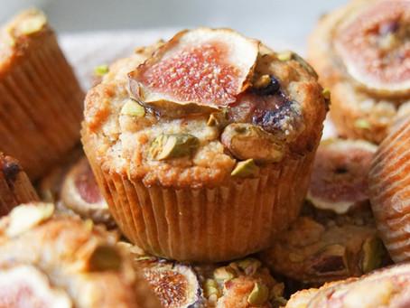 Pistachio Fig Muffins (grain free, dairy free)