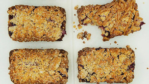 Peanut Butter and Jelly Crumb Bars (low carb, grain free, dairy free)