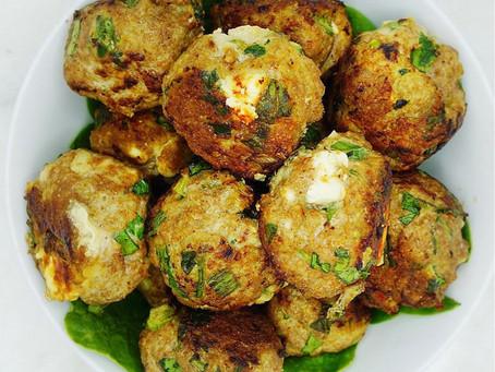 Spinach Feta Turkey Meatballs