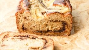 Cinnamon Swirl Banana Bread (low carb, grain free)