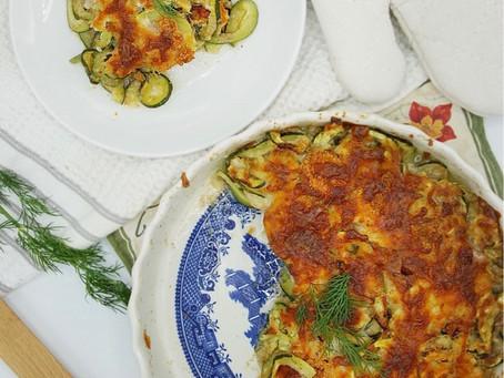 Cheesy Zucchini Noodle Bake