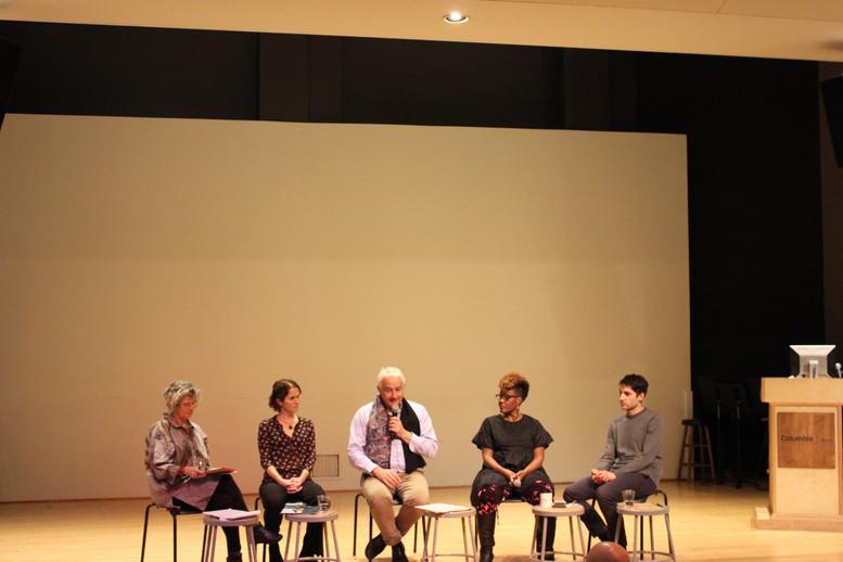 Susan Manning, Franz Anton Cramer, Noé Soulier, Julia Rhoads, and Raquel Monroe in conversation