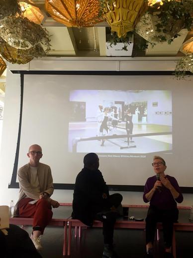 Hendrik Folkerts, Elisabeth Lebovici, January Parkos and Mlondi Zondi in conversation