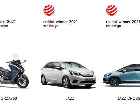 Honda si aggiudica i premi Red Dot per Jazz e Jazz Crosstar Full Hybrid e:HEV e per il nuovo Forza 7