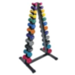 Vertical Dumbbell Rack with Vinyl Dumbbe