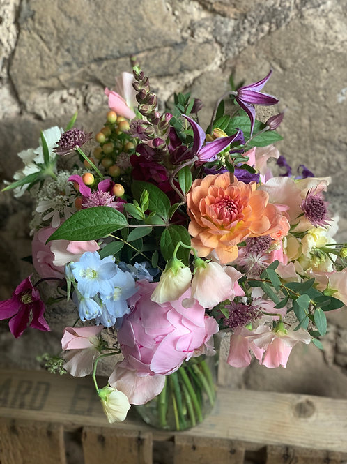 Florist Choice Jam Jar Arrangement