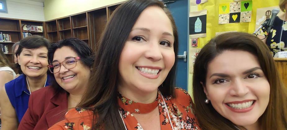 State Senator Victoria Steele, State Representative Rosanna Gabaldon and Mayor Regina Romero