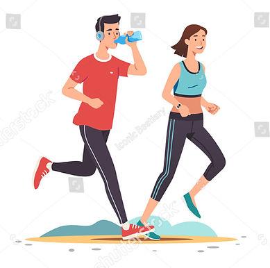 stock-vector-young-man-woman-couples-jog