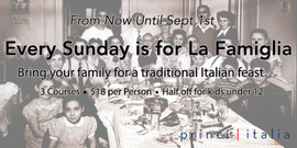 Princi La Famiglia Night Digital Billboard Ad for West Plano Village August 2018