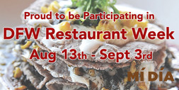 Mi Dia DFW Restaurant Week Digital Billboard Ad for West Plano Village August 2018