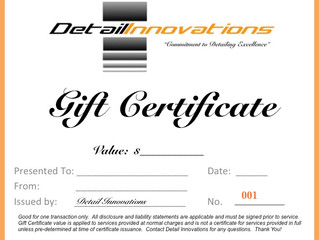 Holiday Gift Certificates!
