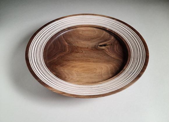 Black Walnut Shallow Bowl