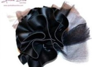 Faux Leather Rosette Pin