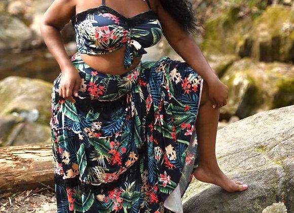 Halter Neck Maxi Skirt Set