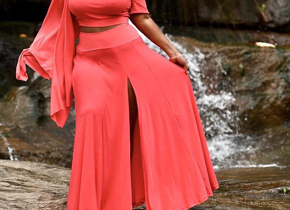 Plus Size Jersey Drama Maxi Skirt