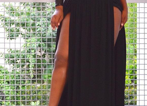 Plus Size Jersey Maxi Skirt