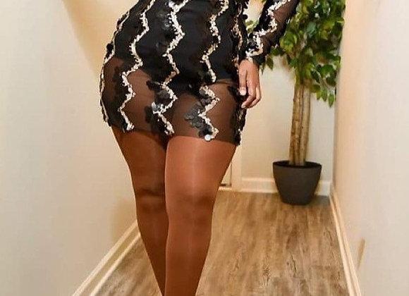 Plus Size Sequin Mini Dress