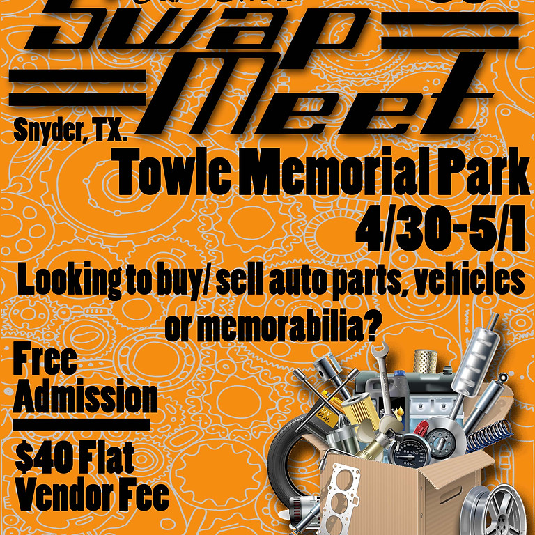 SAVE THE DATE - Snyder Swap Meet 2021