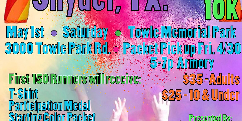 SAVE THE DATE - Snyder Color Run 2021