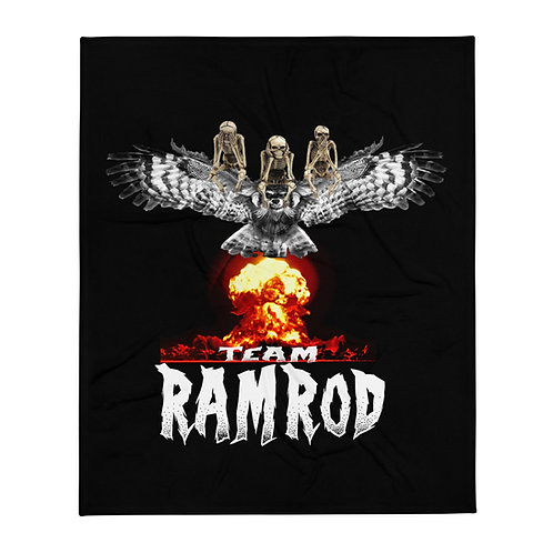 "Team Ramrod Throw Blanket 50""x60"""