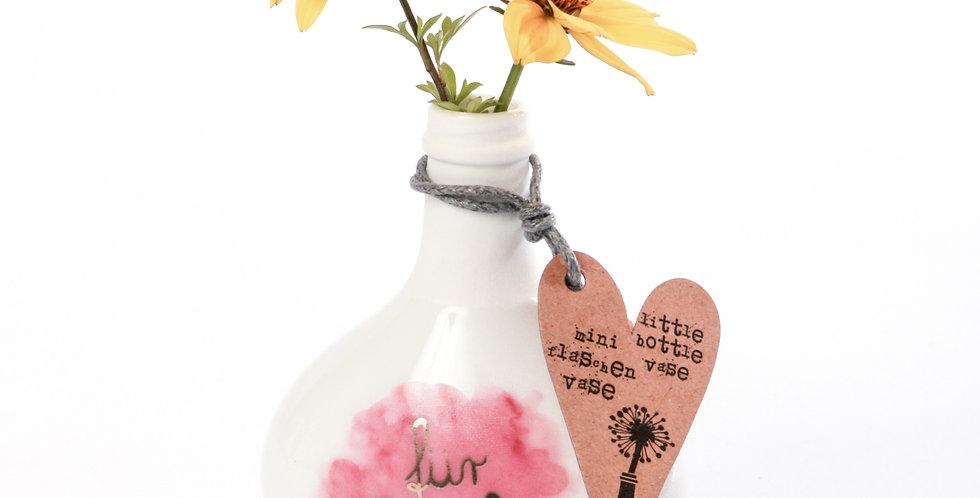 Mini Flaschenvasen. Flaschenweise Glück.