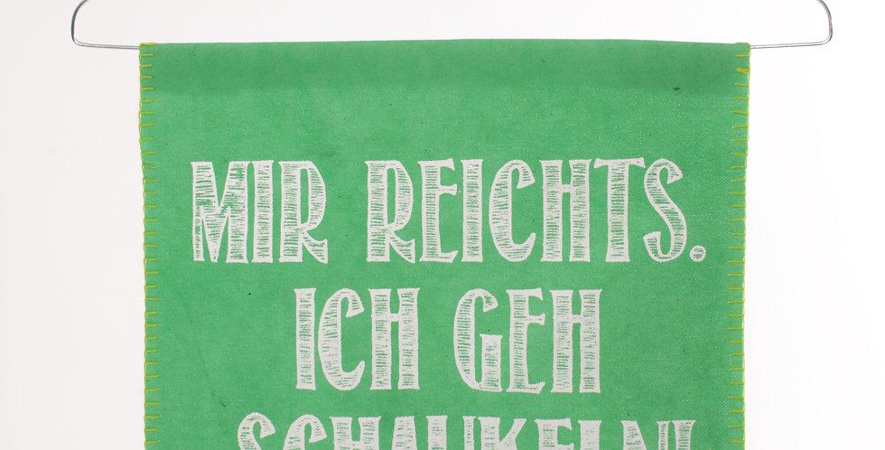 """Good old friends Wortbügel """"Mir reichts. Ich geh schaukeln."""""""