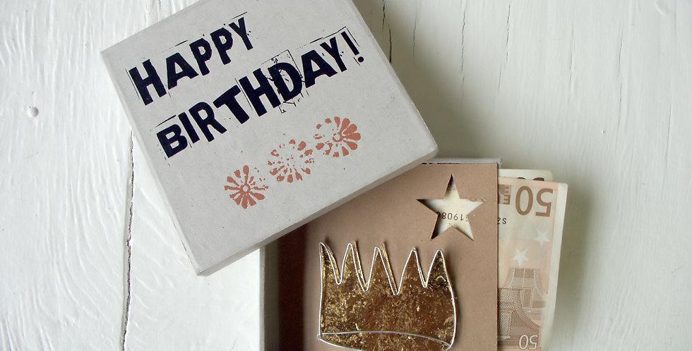 """Good old friends Geldgeschenk-Box """"Happy Birthday"""""""