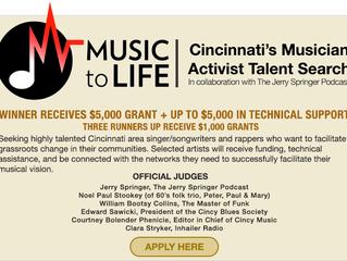 Cincy Activist Musician Talent Search  (Applied!)