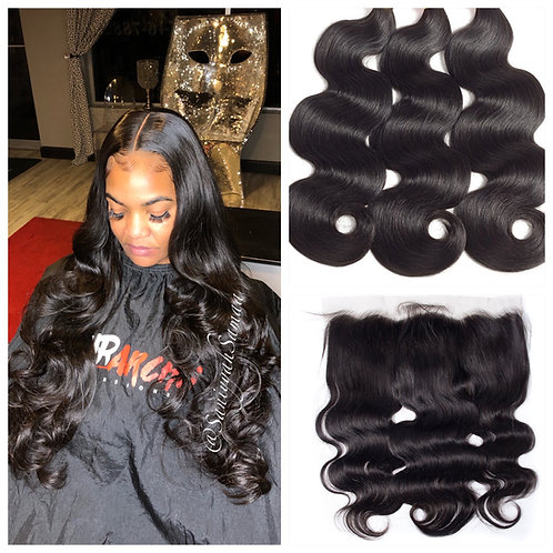 Indian Wavy w/ HD Frontal