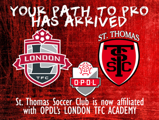 St. Thomas Soccer Club signs OPDL Affiliation Agreement with London TFC Academy