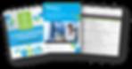XERA AD brochure, infograhic and excel spreadhseet thumbnails
