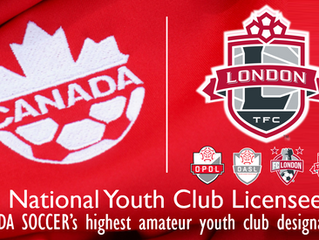 "London TFC Academy designated with ""National Youth Club License"""