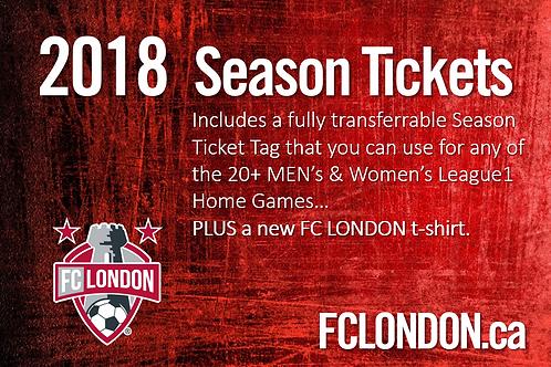 BEST VALUE ! 2018 Season Ticket Package