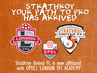 "Strathroy United FC confirms OPDL affiliating agreement with ""London TFC Academy"""