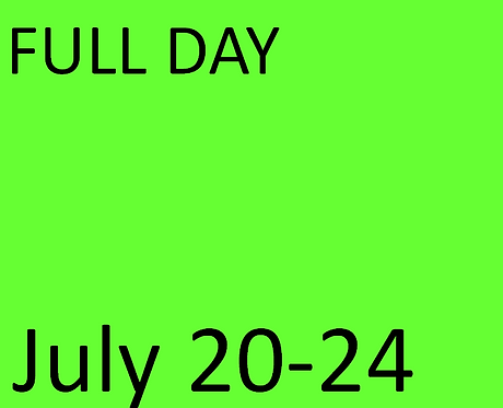 FULL Day - July 20-24
