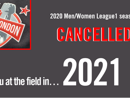 2020 League1 Season Cancelled