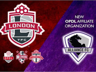 Alliance FC signs OPDL Affiliation Agreement with London TFC Academy…as FC LONDON's youth program co