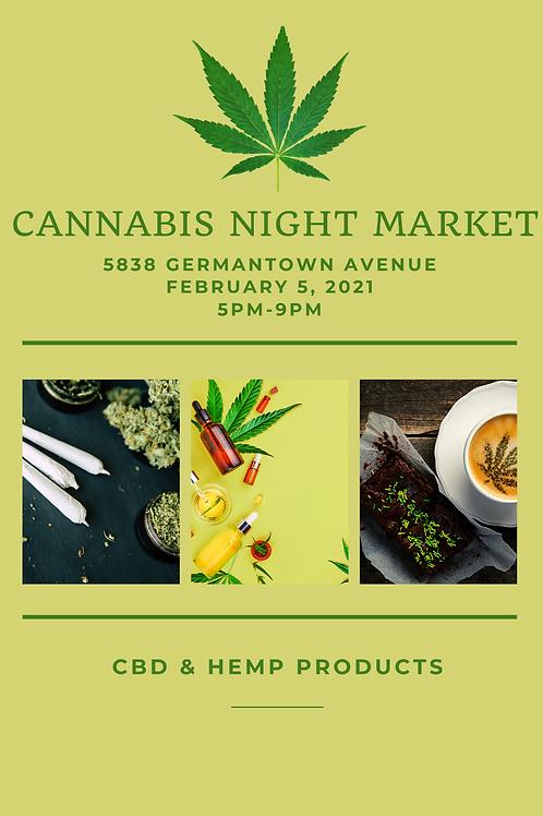 Cannabis Night Market Vendors Fee