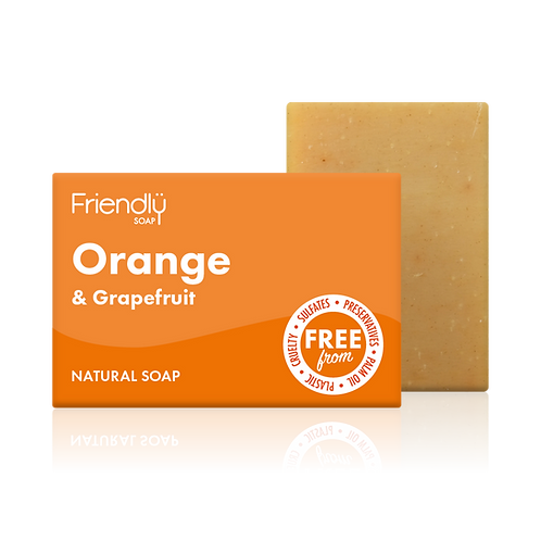 Soap Bar, Orange and Grapefruit - Friendly