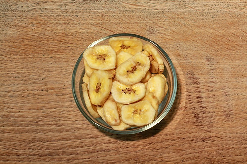 Banana Chips - org (per 100g)