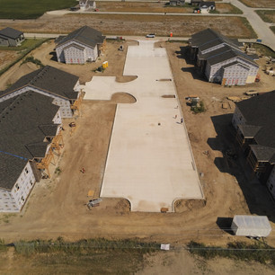 Commercial broom finished subdivision concrete | CR-Menn Concrete | Fremont, Nebraska
