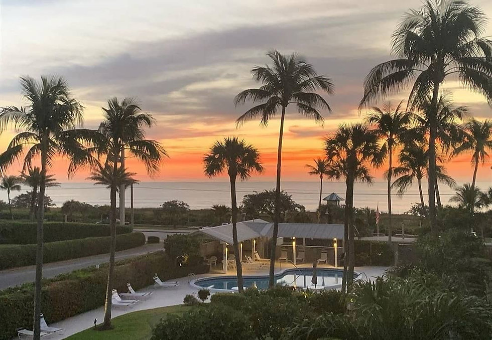 Eastwind Beach Club sunset view