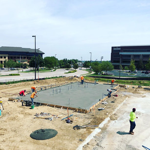 Commercial broom finished concrete parking lot | CR-Menn Concrete | Fremont, Nebraska