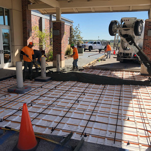 Commercial broom finished concrete   CR-Menn Concrete   Fremont, Nebraska