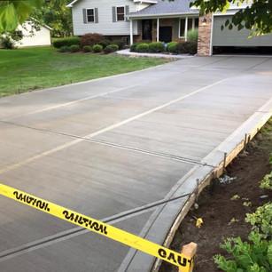 Residential concrete driveway   CR-Menn Concrete   Fremont, Nebraska