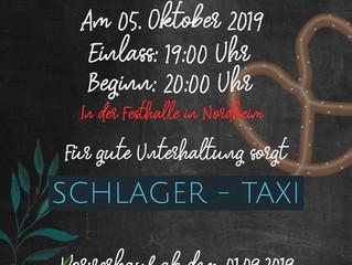 Einladung Oktoberfest- und Dirndlball 2019