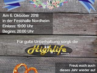 Einladung zum 3. Oktoberfest- und Dirndlball