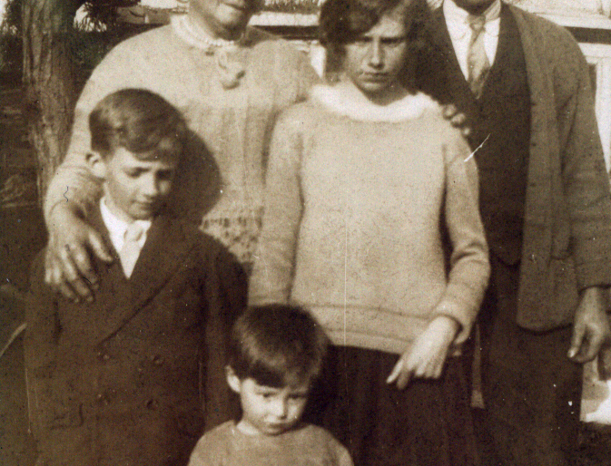 Family group from the Gubbins family album