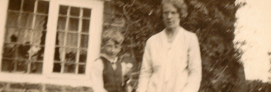 A young Charles Alfred John Gubbins with his mother Elizabeth Ann